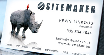 SiteMaker's Business Cards
